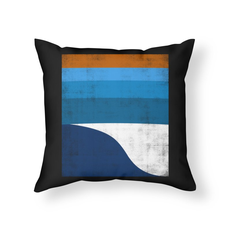 Feel the wave Home Throw Pillow by bulo