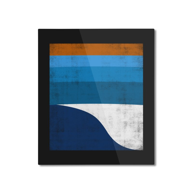 Feel the wave Home Mounted Aluminum Print by bulo