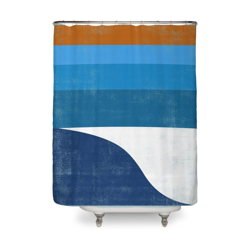 Feel the wave Home Shower Curtain by bulo