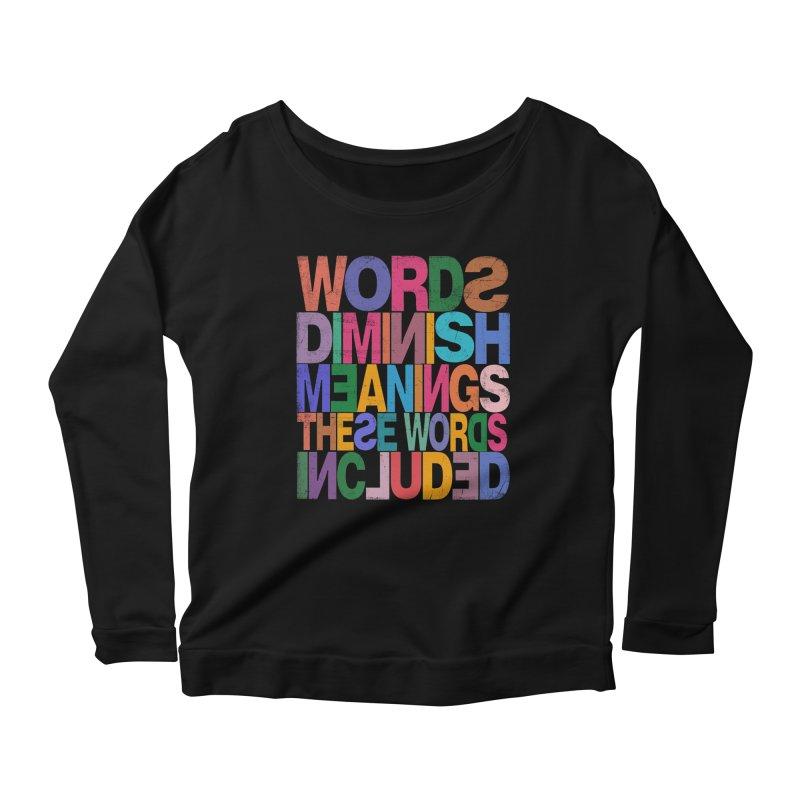 Words Women's Scoop Neck Longsleeve T-Shirt by bulo
