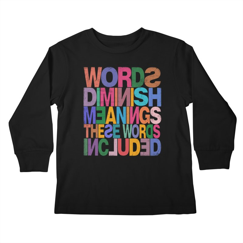 Words Kids Longsleeve T-Shirt by bulo