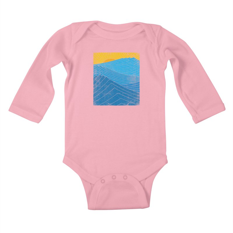 Sunrise (zen version) Kids Baby Longsleeve Bodysuit by bulo