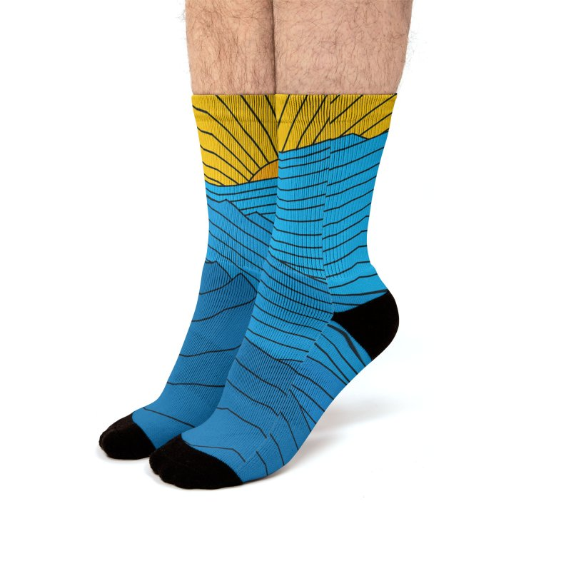 Sunrise (zen version) Men's Socks by bulo