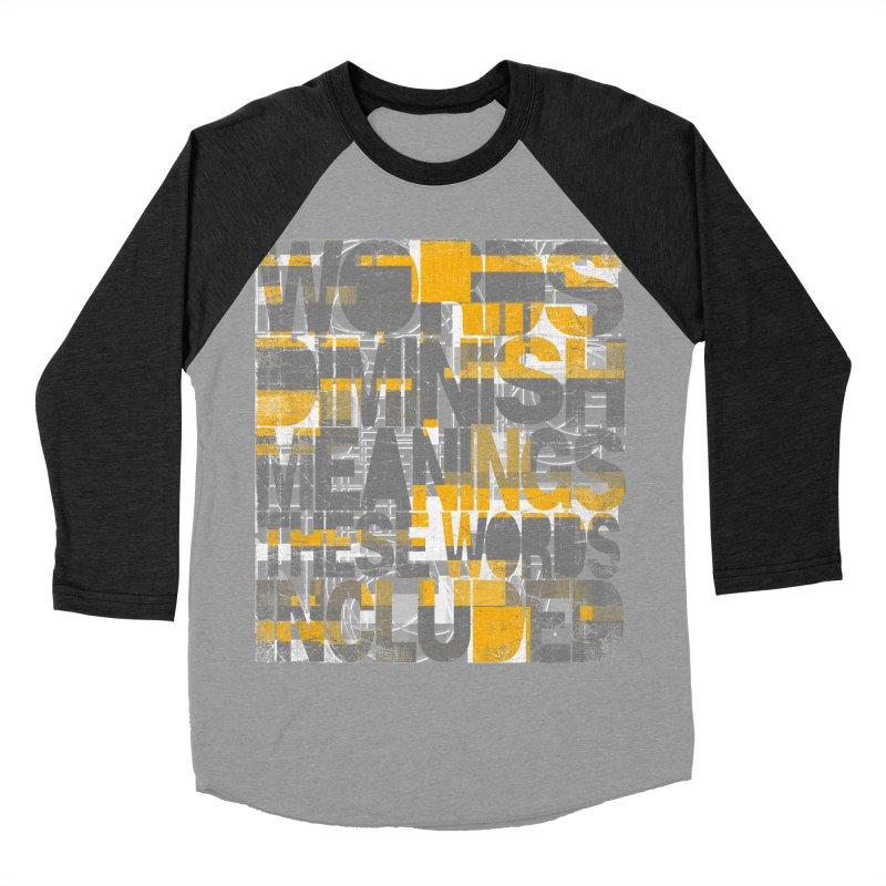 Words Men's Baseball Triblend Longsleeve T-Shirt by bulo