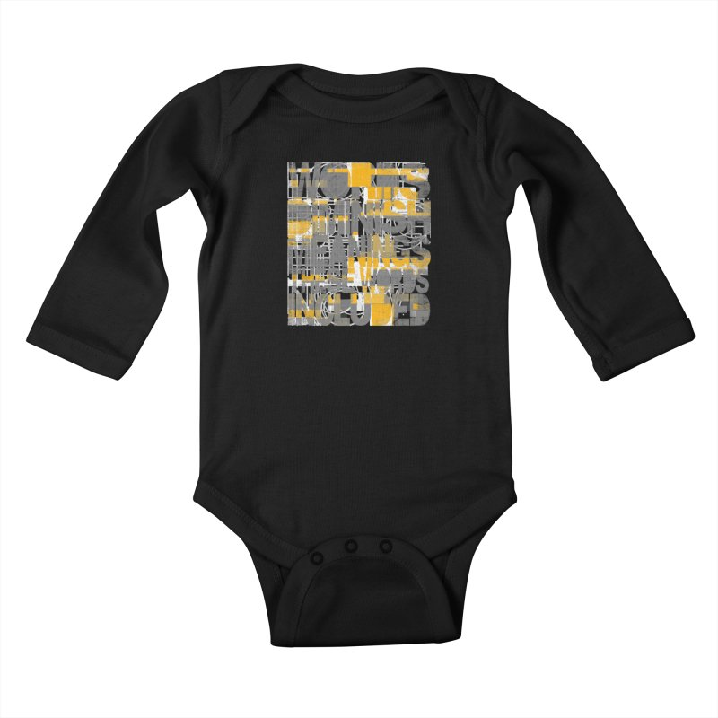 Words Kids Baby Longsleeve Bodysuit by bulo