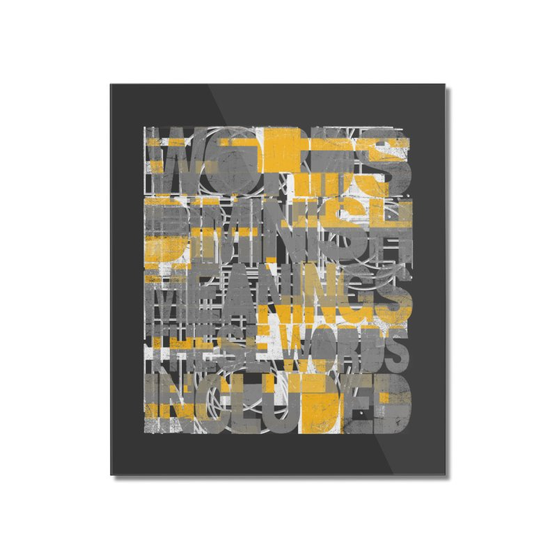 Words Home Mounted Acrylic Print by bulo