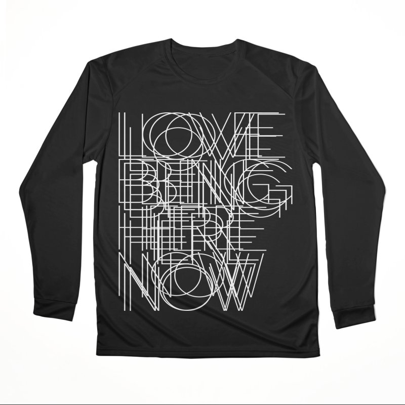 Four Simple Words Men's Performance Longsleeve T-Shirt by bulo