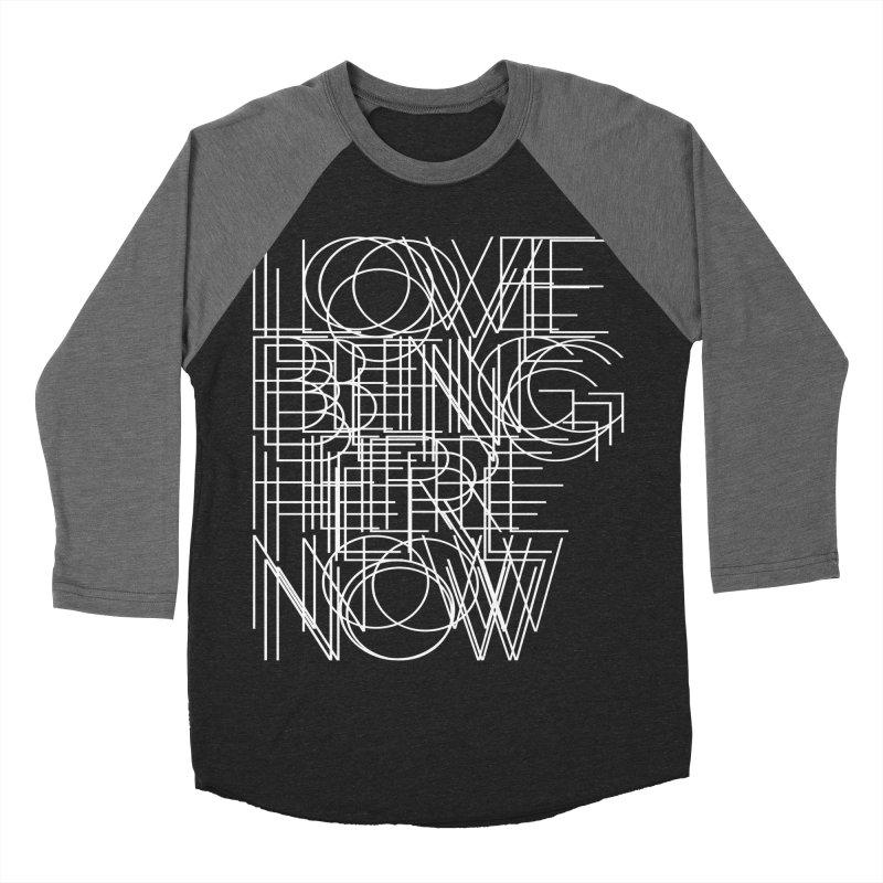 Four Simple Words Men's Baseball Triblend Longsleeve T-Shirt by bulo