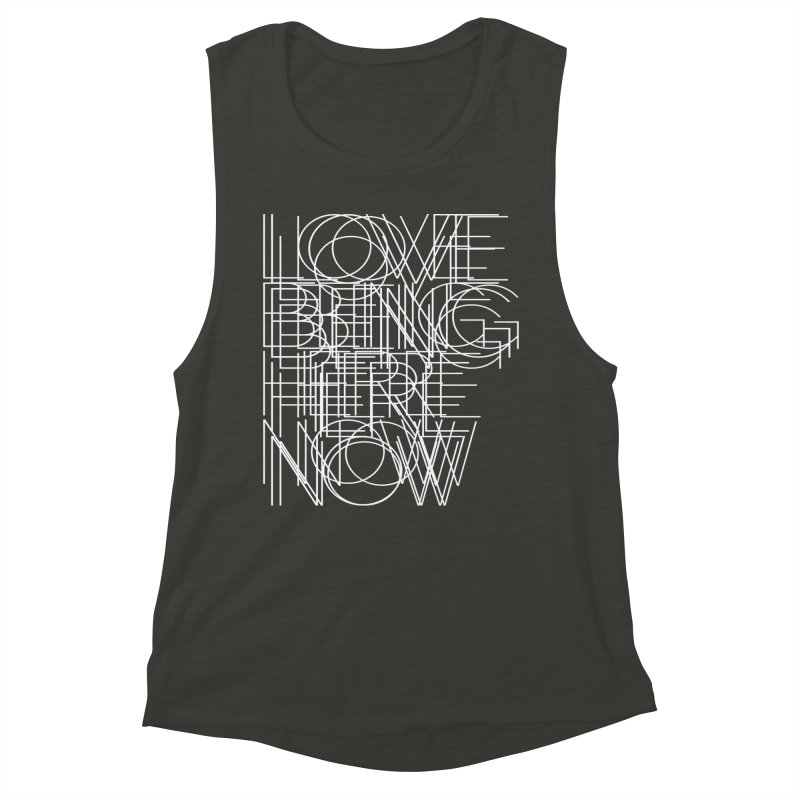 Four Simple Words Women's Muscle Tank by bulo