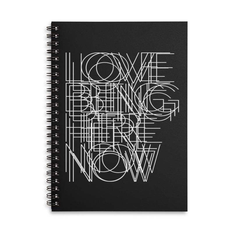 Four Simple Words Accessories Lined Spiral Notebook by bulo