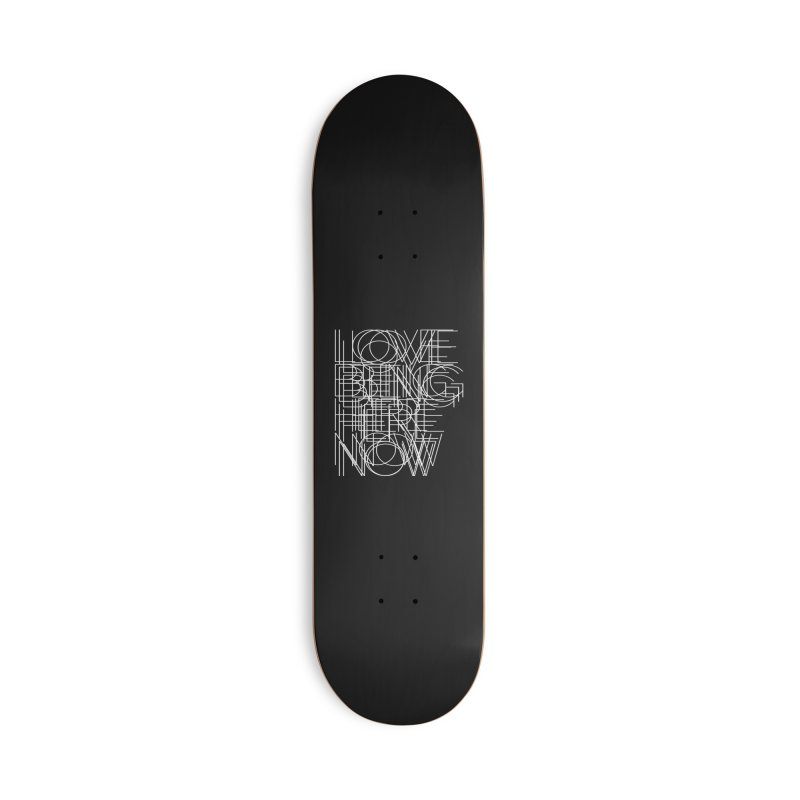 Four Simple Words Accessories Deck Only Skateboard by bulo