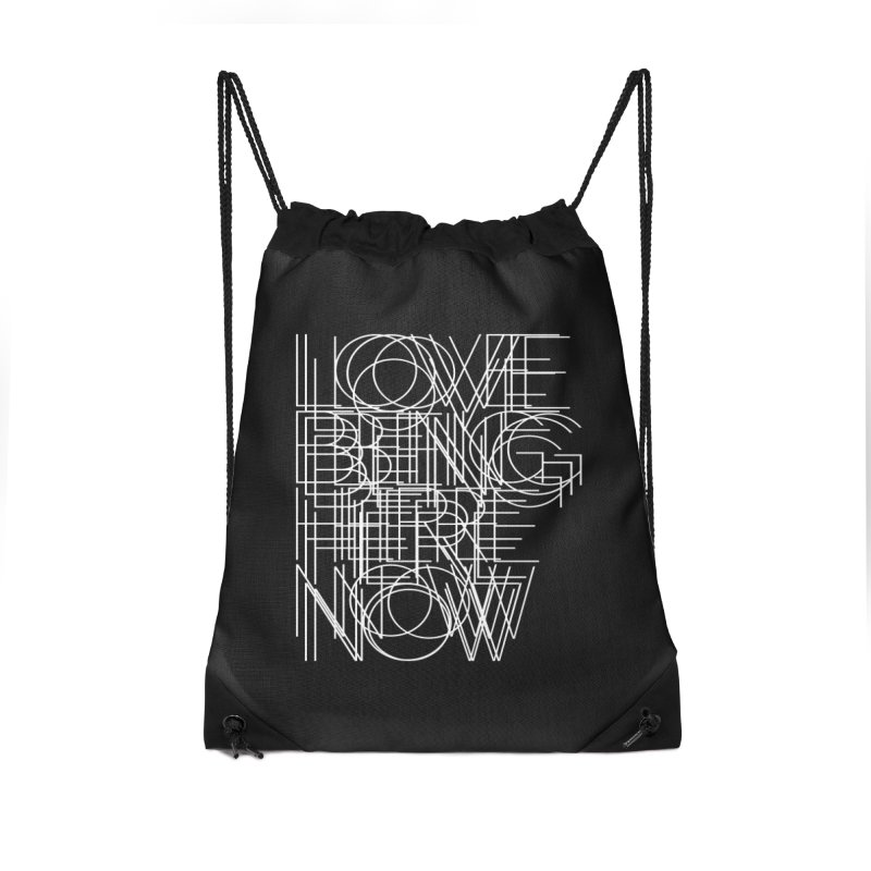 Four Simple Words Accessories Drawstring Bag Bag by bulo