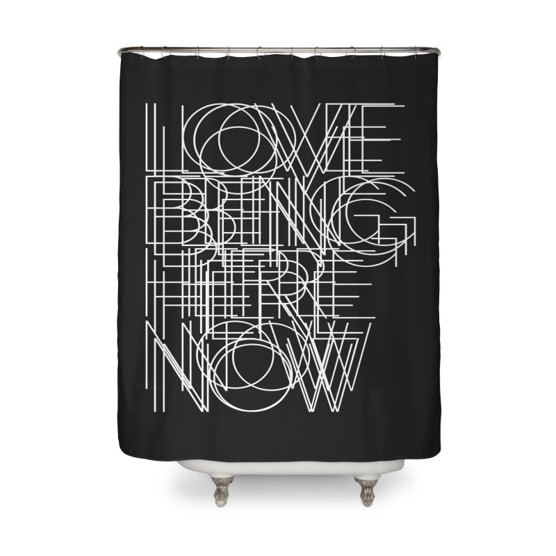 Four Simple Words Home Shower Curtain by bulo