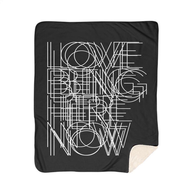 Four Simple Words Home Sherpa Blanket Blanket by bulo