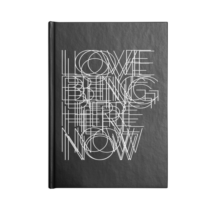Four Simple Words Accessories Blank Journal Notebook by bulo