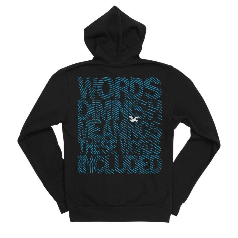 Words (Flying Bird Version) Men's Sponge Fleece Zip-Up Hoody by bulo