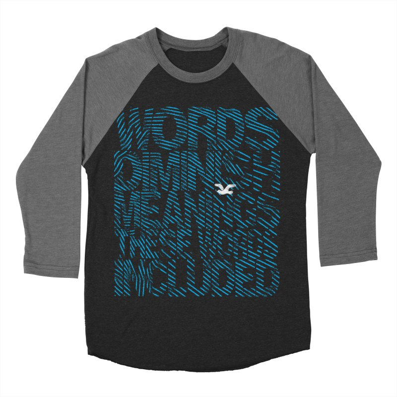 Words (Flying Bird Version) Women's Baseball Triblend Longsleeve T-Shirt by bulo