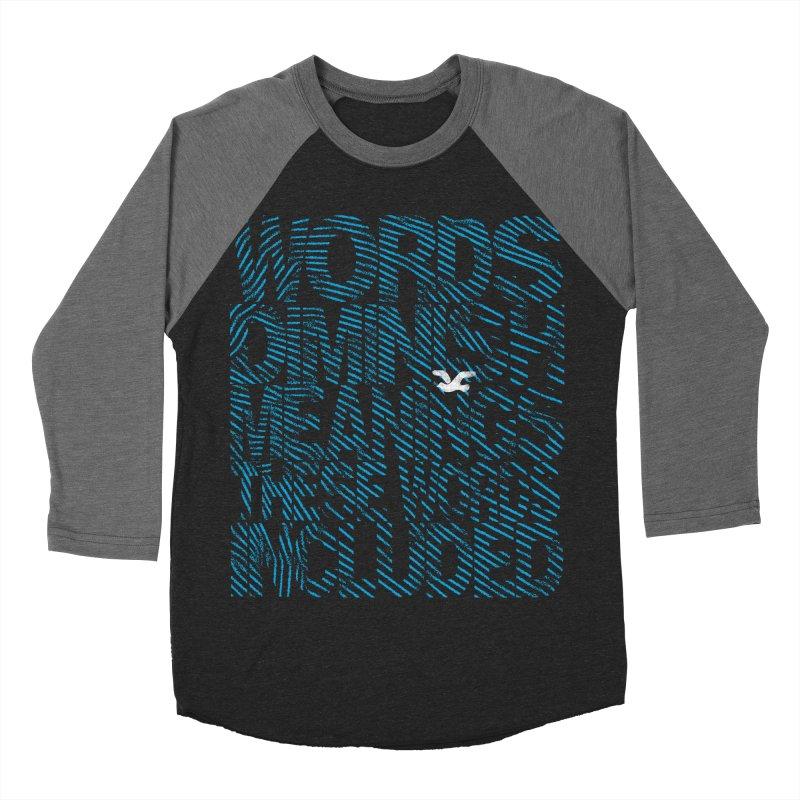 Words (Flying Bird Version) Men's Baseball Triblend Longsleeve T-Shirt by bulo