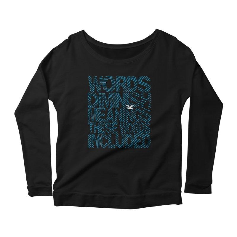 Words (Flying Bird Version) Women's Scoop Neck Longsleeve T-Shirt by bulo