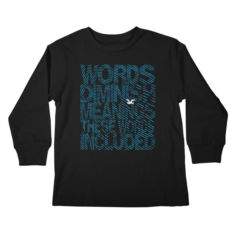 Words (Flying Bird Version) Kids Longsleeve T-Shirt by bulo