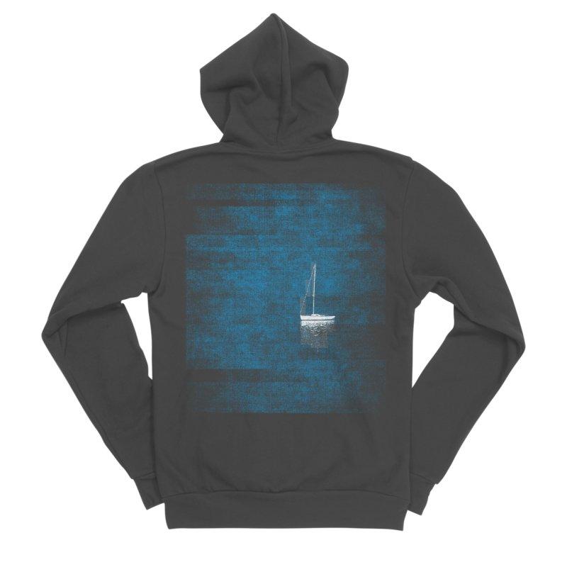 Dream Blue (Zen Version) Men's Sponge Fleece Zip-Up Hoody by bulo
