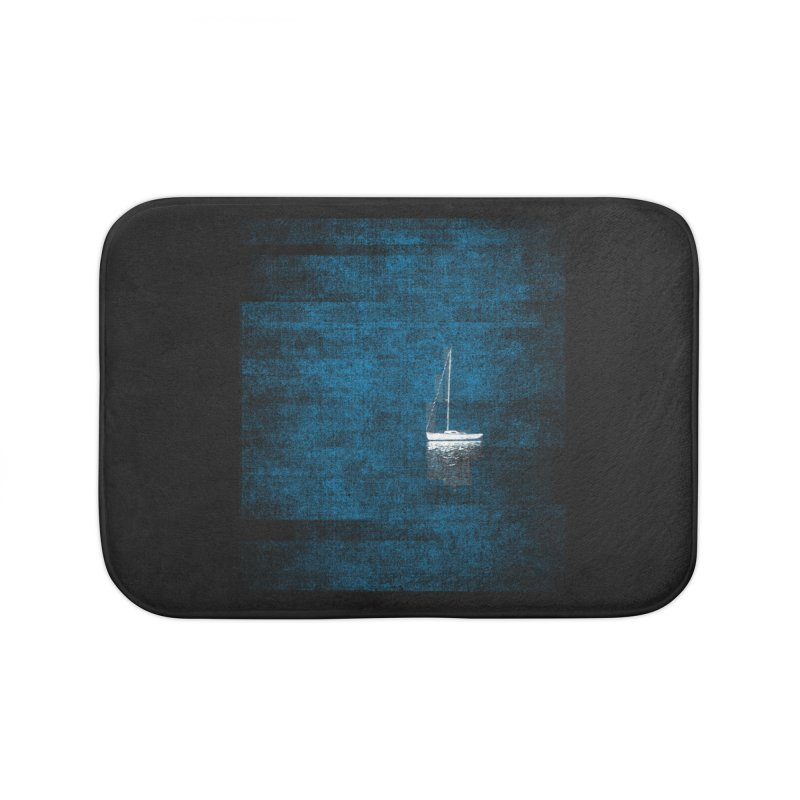 Dream Blue (Zen Version) Home Bath Mat by bulo