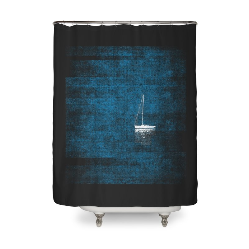 Dream Blue (Zen Version) Home Shower Curtain by bulo