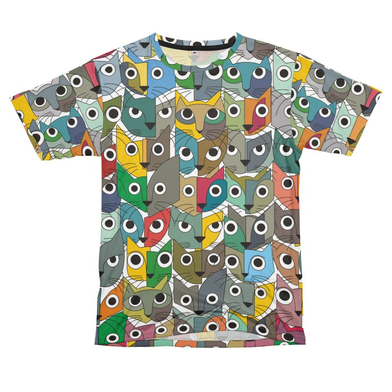 Cats (Forty Pack Version) Men's T-Shirt Cut & Sew by bulo