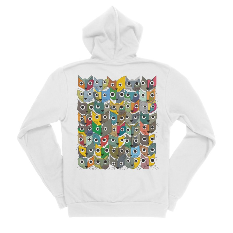 Cats (Forty Pack Version) Women's Sponge Fleece Zip-Up Hoody by bulo