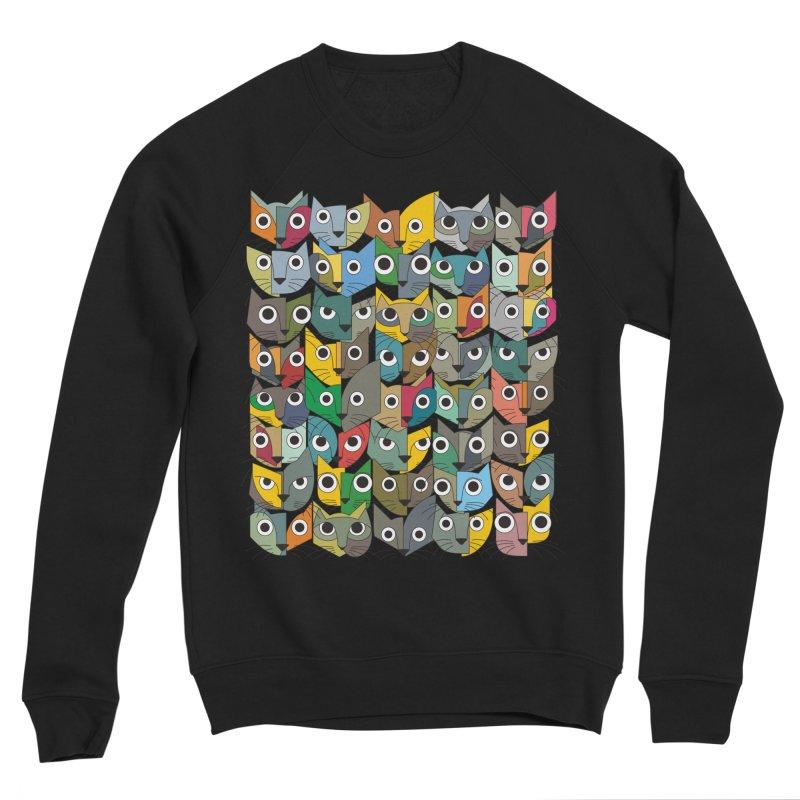 Cats (Forty Pack Version) Men's Sponge Fleece Sweatshirt by bulo