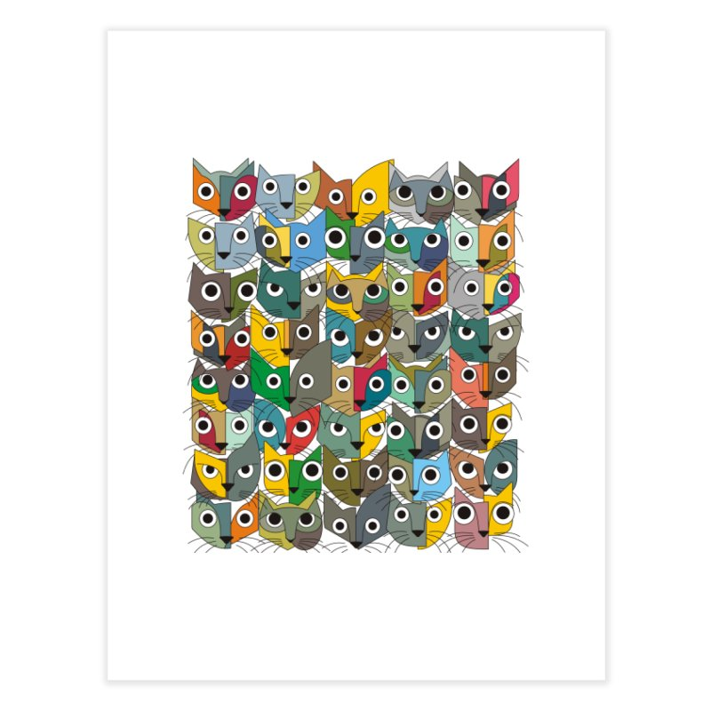 Cats (Forty Pack Version) Home Fine Art Print by bulo
