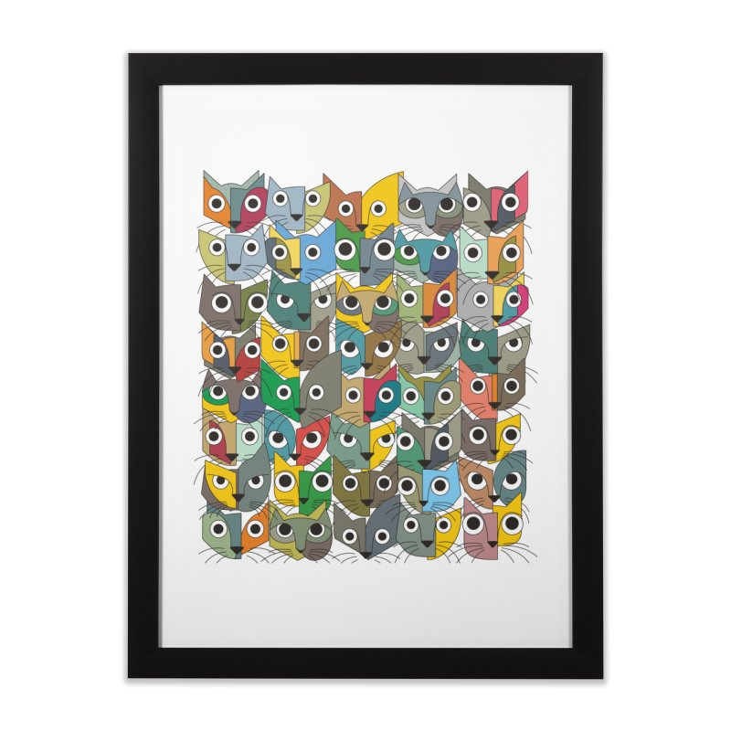 Cats (Forty Pack Version) Home Framed Fine Art Print by bulo