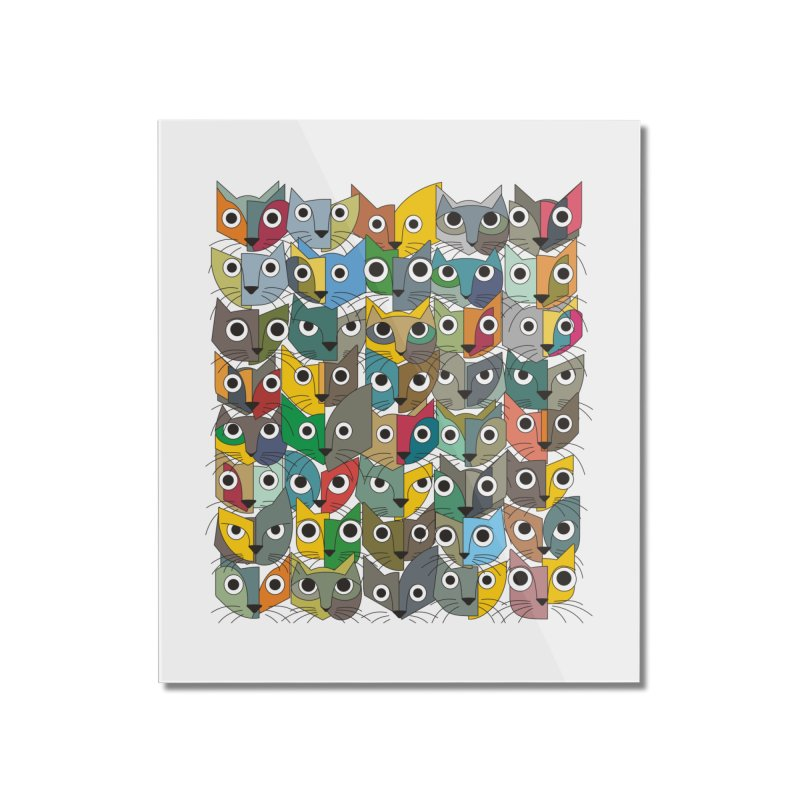 Cats (Forty Pack Version) Home Mounted Acrylic Print by bulo