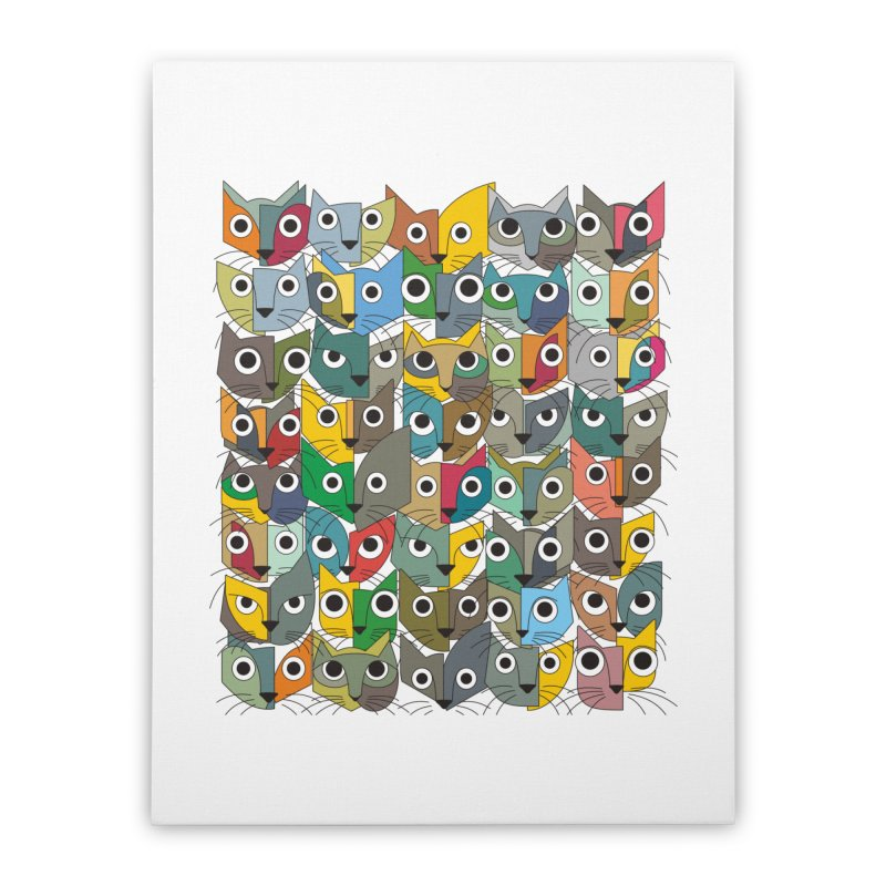 Cats (Forty Pack Version) Home Stretched Canvas by bulo
