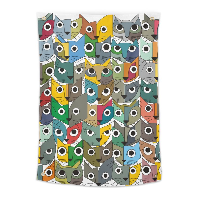 Cats (Forty Pack Version) Home Tapestry by bulo