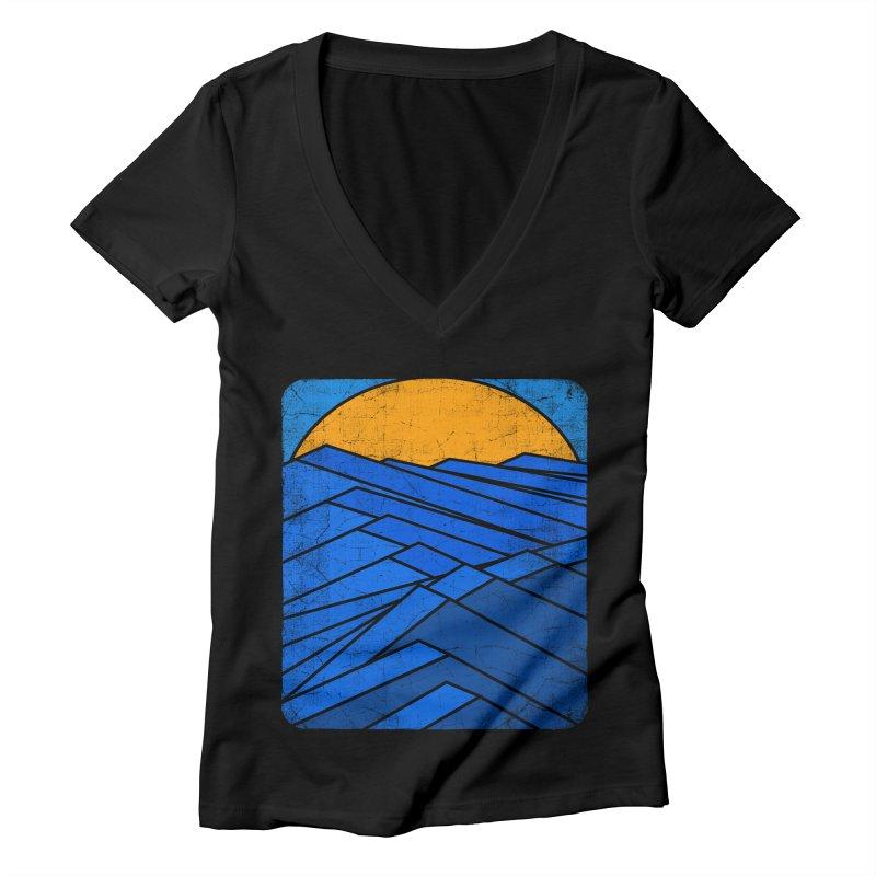 Sunrise with waves Women's Deep V-Neck V-Neck by bulo