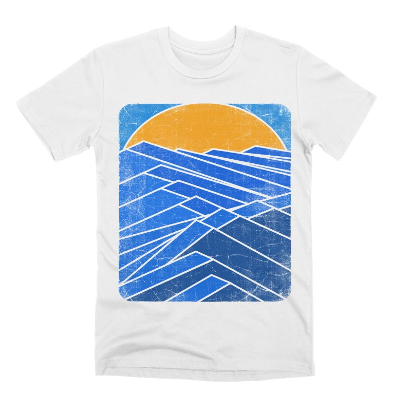 Sunrise with waves Men's Premium T-Shirt by bulo
