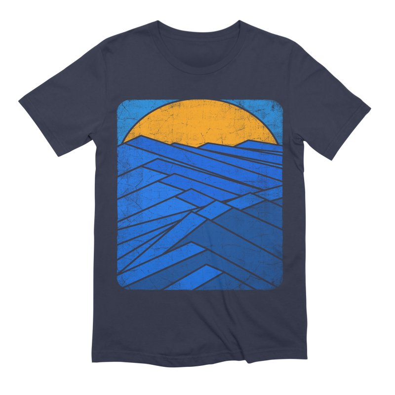 Sunrise with waves Men's Extra Soft T-Shirt by bulo