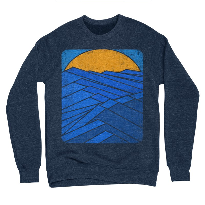 Sunrise with waves Men's Sponge Fleece Sweatshirt by bulo