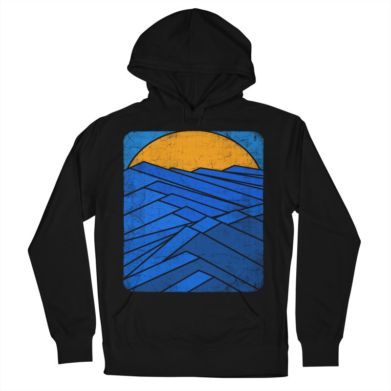 Sunrise with waves Men's French Terry Pullover Hoody by bulo