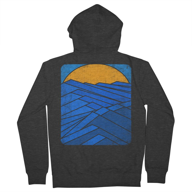 Sunrise with waves Men's French Terry Zip-Up Hoody by bulo