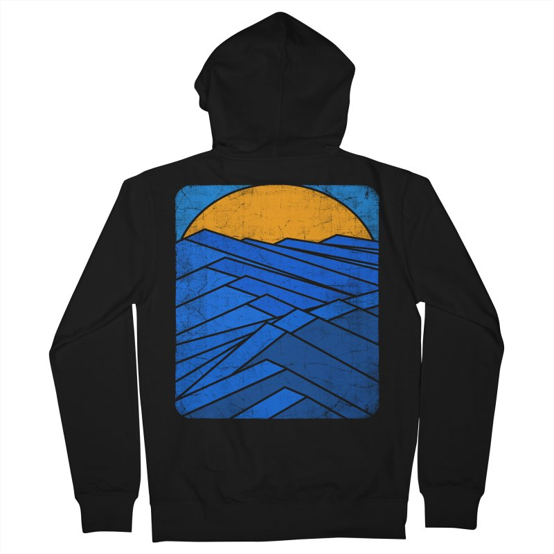 Sunrise with waves Men's Zip-Up Hoody by bulo