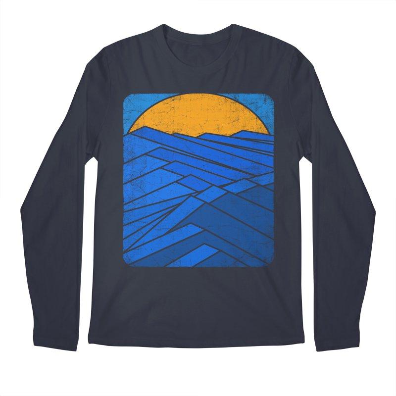 Sunrise with waves Men's Regular Longsleeve T-Shirt by bulo