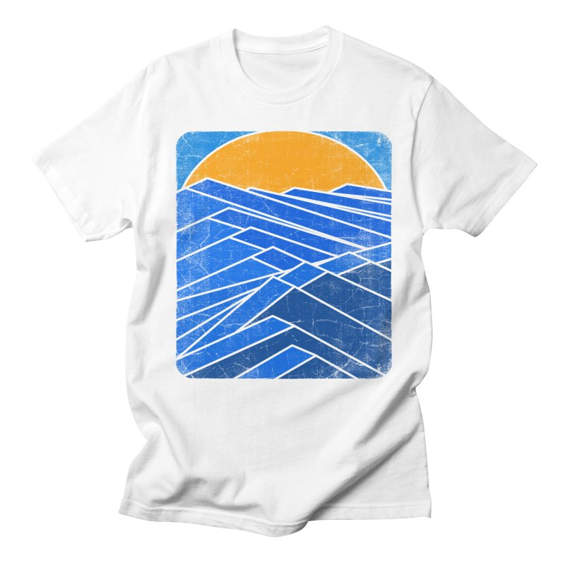 Sunrise with waves Men's Regular T-Shirt by bulo