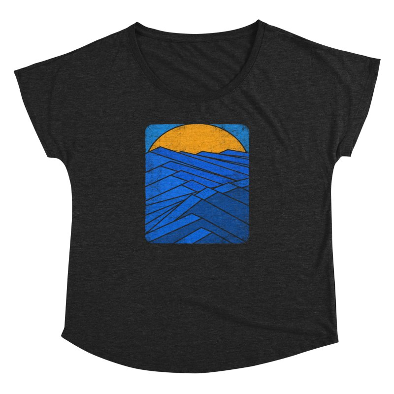 Sunrise with waves Women's Dolman Scoop Neck by bulo