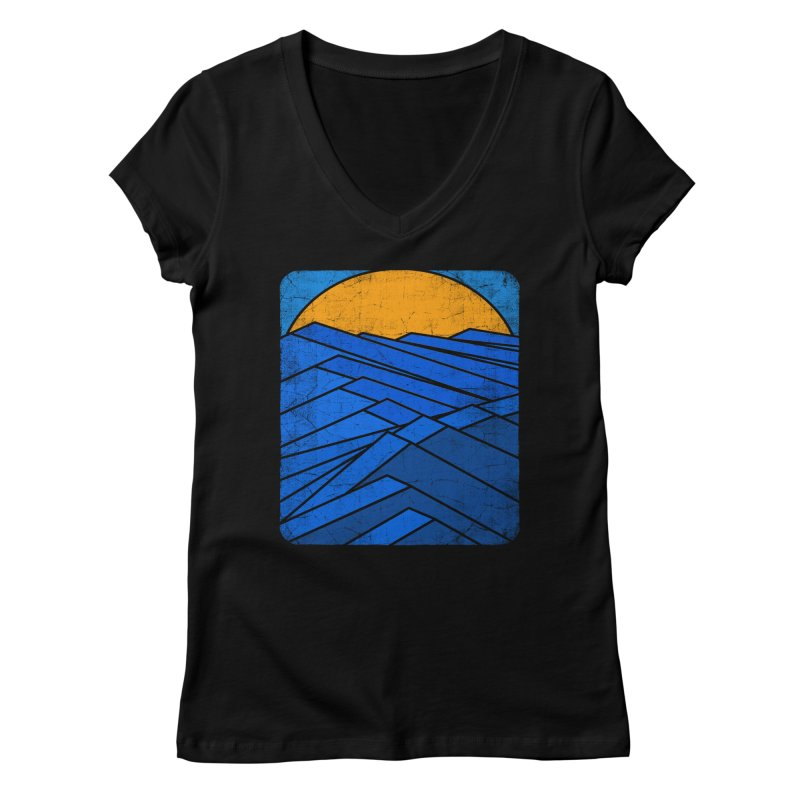 Sunrise with waves Women's Regular V-Neck by bulo