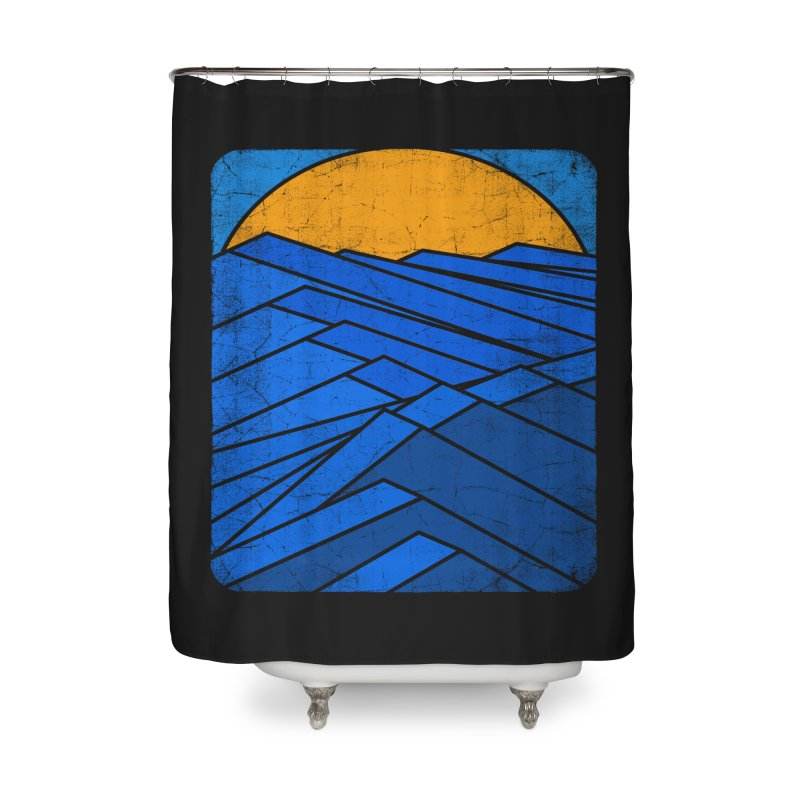 Sunrise with waves Home Shower Curtain by bulo