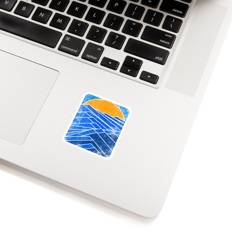 Sunrise with waves Accessories Sticker by bulo