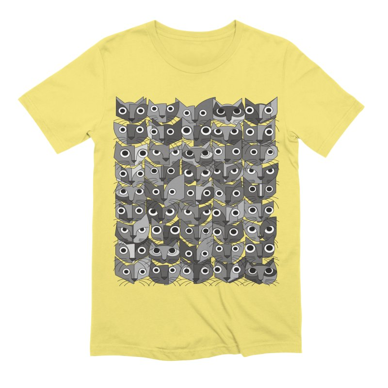 Cats (fortyfivepack bw version) Men's Extra Soft T-Shirt by bulo