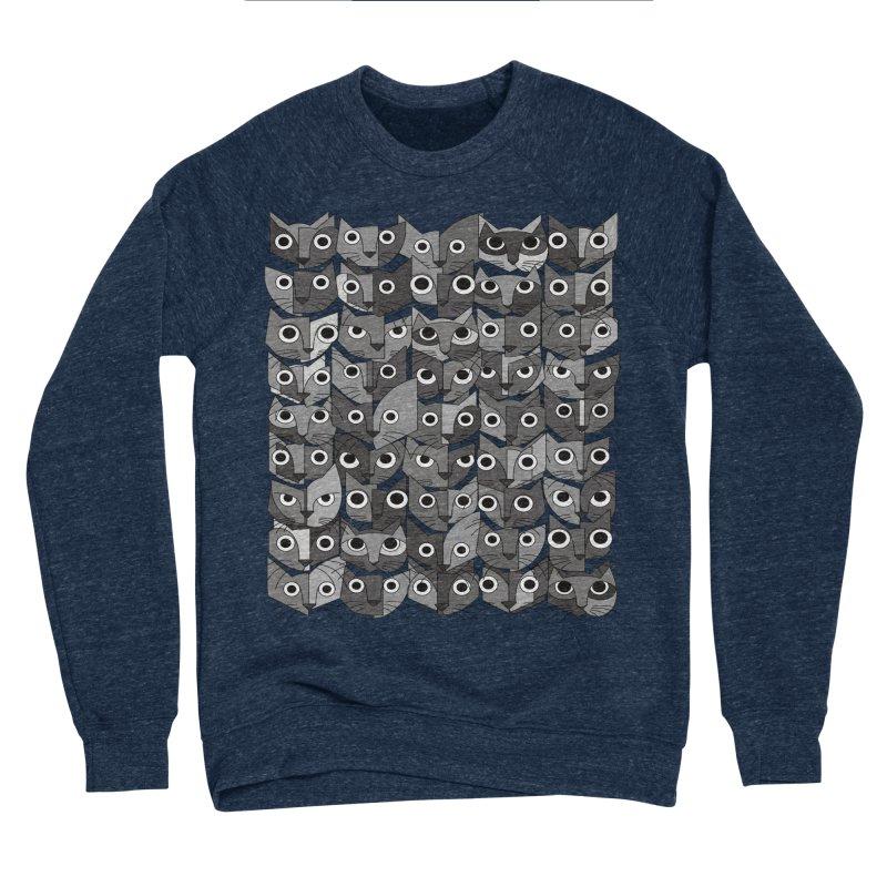 Cats (fortyfivepack bw version) Men's Sponge Fleece Sweatshirt by bulo